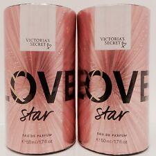 2 VICTORIA'S SECRET LOVE STAR FRAGRANCE EAU DE PARFUM 1.7oz 50ml