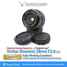 ⭐SERVICED⭐ Vivitar KOMINE 28mm F2.8 Wide-angle Prime (fits Canon FD) [MINTY]