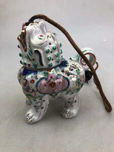 Aerozon DRGM Rauchverzehrer Porzellan Lampe China Drache Hund Art Deco 17cm