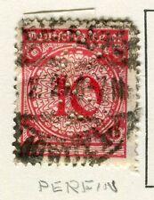 La Germania; 1923 periodo di inflazione anticipata emissione fine utilizzato 10pf. + PERFIN