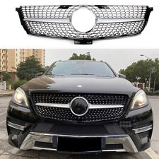 Car Front Racing Grille For Mercedes-Benz W166 ML-Class 2012-2015 Diamond Silver