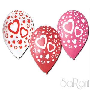 Balloons Colorful 20 Pz Footballs Feast Party Decorations Hearts 30 CM Sarani