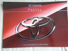 Toyota Previa brochure Oct 1994