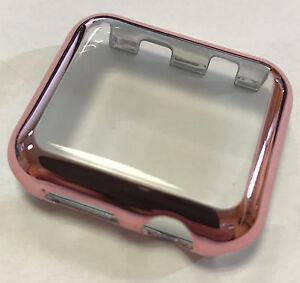 Panzerschutz Display Schutz Glas Apple Watch Series 2 Cover für 38 mm rose pink