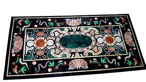 24 x 48 Inches Marble Coffee Table Top Handcrafts Patio Table with Unique Design