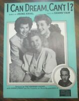 I Can Dream Can't I? Sheet Music  VINTAGE SHEET MUSIC Andrews Sisters 1937