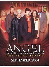 ANGEL Season 5 trading cards 2004 Inkworks PROMO Dealer Sell Sheet.