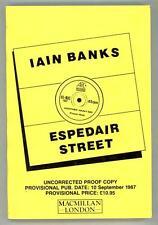 Espedair Street by Iain M. Banks (Advance/Proof)- High Grade