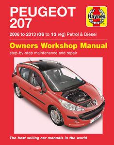 Peugeot 207 Petrol & Diesel 06 - 13 Haynes Repair Manual
