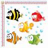 adesivi pesci animali auto moto helmet tuning sticker fish print pvc 5 pz.