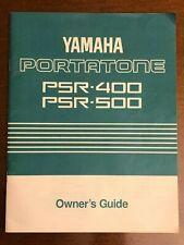Yamaha PSR-400 and PSR-500 Portatone Digital Keyboard Original Owner's Manual