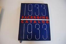 Ornate 1933 Modern Packaging Catalog w/ Samples - New York