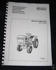 Hakotrac V490 D522 Bedienungsanleitung (8014/8016)