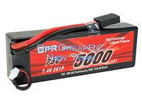7.4V 5000mAh 75C 2S LiPo Battery Pack Traxxas Slash Stampede 4x4 E-Maxx E-Revo