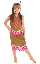 Fancy Dress Costume ~ Girls Indian Squaw Medium Age 5-6