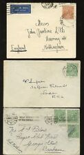 AUSTRALIA KG5 HEADS 10 stamps on 6 COVERS 1919-39