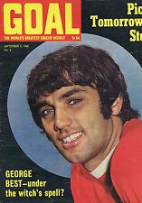 GEORGE BEST / EVERTON / JOHN HOLLINS - CHELSEAGoalNo.57Sep1968