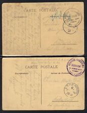 Germany 1916 German Field Post Camp From France W/ 2 Post Cards Of French Lovers