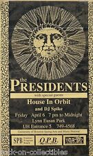 The Presidents House In Orbit 1995 Concert Poster