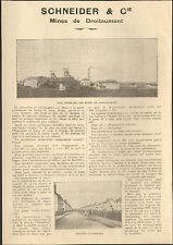 JARNY DROITAUMONT (54) MINES DE MINERAI 1923