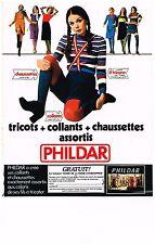 PUBLICITE  1971   PHILDAR  collants & chaussettes pour femmes