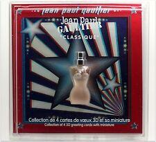 JEAN PAUL GAULTIER CLASSIQUE EAU DE TOILETTE 3.5 ML. 0.11 FLOZ. CHRISTMAS CARDS