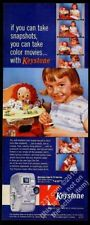 1957 Raggedy Ann girl 7 photo Keystone Capri K-25 movie camera vintage print ad