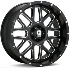 20 Inch Black Wheels Rims Dodge RAM Truck Hummer H2 20x9 XD Series XD820 Set 4