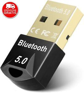 ✅ ADATTATORE BLUETOOTH 5.0 USB RICEVITORE WIRELESS DONGLE PER PC WINDOWS