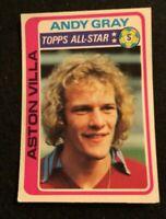 TOPPS 1979 FOOTBALL CARD #350 ASTON VILLA ANDY GRAY  ALL-STAR