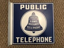 """Public Telephone Sign Reproduction, 11x11"""""""