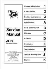 JCB JZ70 Tracked Excavator Service Manual (B236)