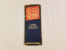 Vintage Train Railway Time Table St. Paul Minneapolis Minnesota N Dakota 1944