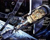 CUTAWAY ILLUSTRATION OF THE SKYLAB ORBITAL WORKSHOP - 8X10 NASA PHOTO (AZ068)