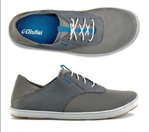 Olukai Nohea Moku Fog/Charcoal Loafer Men's US sizes 7-14 NEW