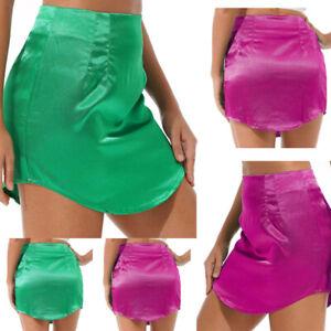 Sexy Women's Satin Mini Skirt Slim Bodycon Short Dress Casual Party Clubwear