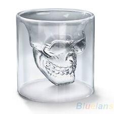 Designer Skull Head Shot Glass Fun Doomed Transparent Home Party Fantastic