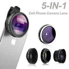 5 in 1 HD Mobile Phone Camera Lens Kit Phone Lens Fisheye for iPhone Smart Phone