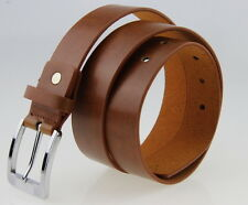Mens Alloy Studded Pin Buckle Brown Dress Casual Wide Belts BT001