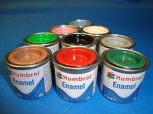 HUMBROL TINLET 14ml MODEL ENAMEL MATT PAINT  No 79 - 118