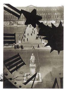 Kunstpostkarte Schwarz - Weiß Fotografie- Andrè Kertesz - Le Pont des Arts, Pari