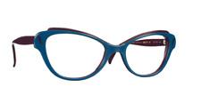 Caroline Abram Eyewear - Glasses Parisian Designer Peacock Blue/Violet Great Con