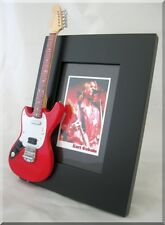 KURT COBAIN  Miniature Guitar Frame Jagstang Nirvana Red