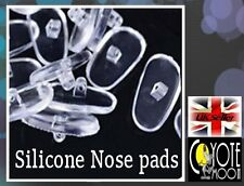 3 Pairs Flexible Silicone Nose pads for glasses screw in Eyeglasses Sunglasses