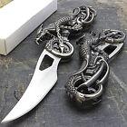 7' DRAGON BIKER BLADE DESIGN STAINLESS STEEL TACTICAL FOLDING POCKET KNIFE
