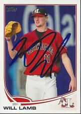 Will Lamb Texas Rangers 2013 Topps Pro Debut Signed Card