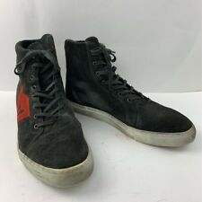Dainese Mens Street Biker Air Motorcycle Shoes Black High Top Perforated 12.5