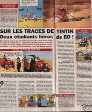 Coupure de presse Clipping 1994 Sur les traces de Tintin  (1 page 1/3)