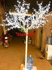8ft/2.4m White LED Cherry Blossom Tree Outdoor Home Garden Display Decor 864 LED