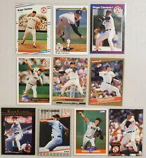 Roger Clemens Lot of 10(Ten) MLB Baseball 1980's & 1990's Real Nice